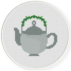 FREE for Nov 25th 2016 Only - Tea Pot Cross Stitch Pattern