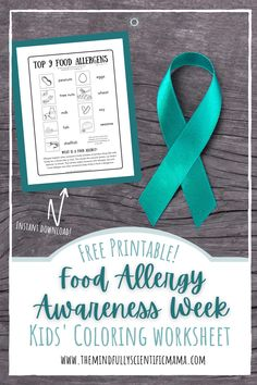 Use as a coloring sheet, for a school activity, or as part of a kids' awareness and education campaign. Learn about the top 9 food allergens for Food Allergy Awareness Week! Gentle Parenting, Parenting Hacks, All About Mom, Healthy Eating For Kids, Attachment Parenting, Interesting Reads, Coloring For Kids, Food Allergies, Free Printables