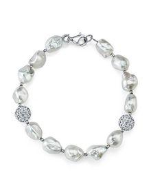 Mia Diamonds 925 Sterling Silver Peach Crystal /& Fw Cultured Pearl Earrings 25mm x 8mm
