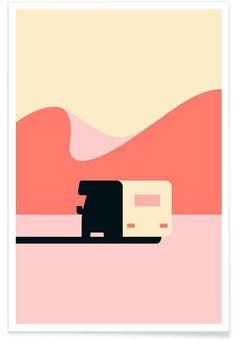 Van as Premium Poster by Hey Studio   JUNIQE