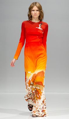 Love the design and warmth in this dress! ALEXANDER TEREKHOV :: COLLECTIONS :: SPRING-SUMMER 2012 :: COLLECTION