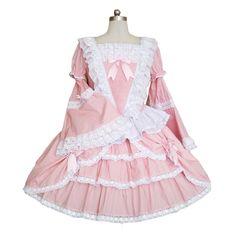 AvaLolita Pink Trumpet Sleeve Knee-length Sweet Lolita Dress, XL