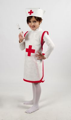 Kids Nurse Costume, Toddler Doctor Costume, Community Helpers Crafts, Felt Games, Baby Kostüm, Halloween Sewing, My Little Pony Birthday, Nurse Hat, Outfits