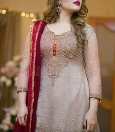 Colorrrr Casual Party Dresses, Wedding Dresses For Girls, Girls Dresses, Pakistani Wedding Outfits, Pakistani Dresses, Frock Fashion, Fashion Dresses, Women's Fashion, Silk Kurti Designs