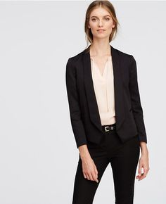 Ann Taylor's Twill Shawl Collar Jacket x Trousers   Skirt the Ceiling   skirttheceiling.com