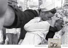Resumo Fotográfico - Campanha edita fotos famosas como se fossem autorretratos