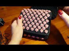 """TUTORIAL simil CHANEL """"PINK"""" uncinetto crochet PUNTO NOCCIOLINO BICOLOR (part 4) - YouTube"""
