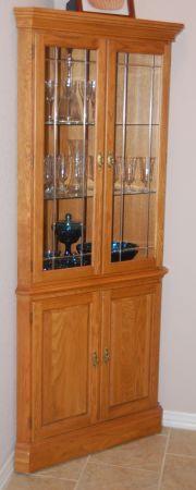 Corner Curio Cabinet For The Home Pinterest Curio