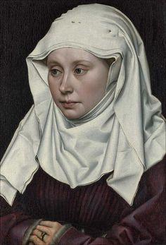 Robert Campin | Maestro di Flémalle · Ritratto di donna · 1435 ca · 40.6 x 28.1 cm · National Gallery · London