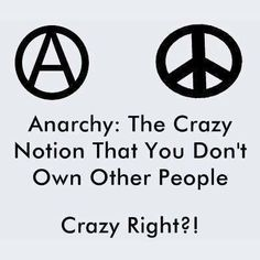 Anarchy The crazy notion that you don't own other people   Anonymous ART of Revolution