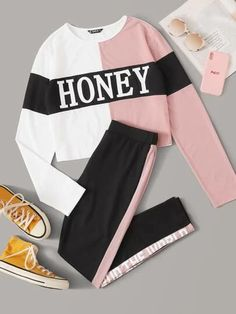 The Latest Girls & Guys Fun & Fashion Trends Hm Outfits, Cute Lazy Outfits, Teenage Girl Outfits, Cute Casual Outfits, Sporty Outfits, Teenager Outfits, Mode Outfits, Matching Outfits, Outfits For Teens