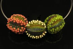 Limited Edition Jewelry Bead Ball Necklaces. Betsy Hershberg