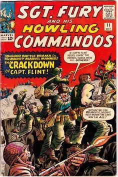 Fury and his Howling Commandos 11 Marvel Comic Book cover nick Marvel Comic Books, Comic Book Characters, Comic Books Art, Comic Art, Marvel Art, Marvel Heroes, Comic Character, Vintage Comic Books, Vintage Comics