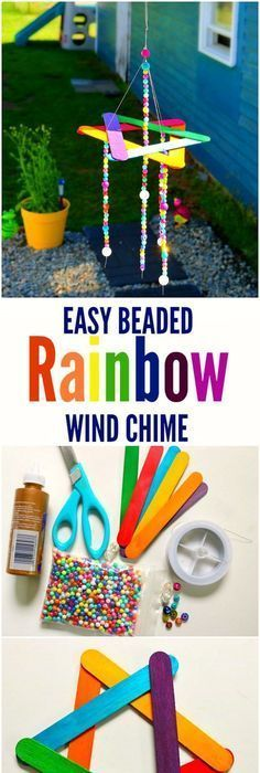 This easy wind chime kids craft will make a cute addition to your garden! - - This easy wind chime kids craft will make a cute addition to your garden! This easy wind chime kids craft will make a cute addition to your garden! Diy Crafts For Kids Easy, Craft Activities For Kids, Craft Stick Crafts, Toddler Crafts, Preschool Crafts, Projects For Kids, Fun Crafts, Arts And Crafts, Craft Kids