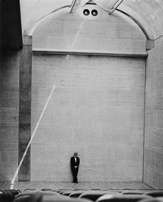 Louis Kahn in the auditorium of his Kimbell Art Museum, Fort Worth, Texas