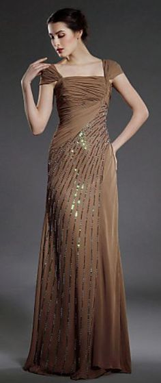 b2d9c31fcb Square Neckline Floor-length Chiffon. not my color