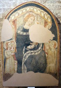 Maestro espressionista di Santa Chiara - Madonna in maestà - 1320-30 circa - Museo Diocesano di Gubbio