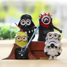 New Hot Minion Cos Star Wars Darth Maul Darth Vader Stormtrooper Luke Skywalker PVC Action Figures Toys 4pcs/set L356-in Action & Toy Figures from Toys & Hobbies on Aliexpress.com | Alibaba Group