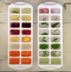 infused ice cubes make your water better! #healthy