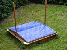 Sandkastenabdeckung aus alter Tischdecke / Sandpit cover made from old tablecloth / Upcycling