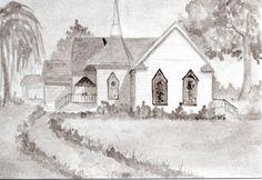 Church--original India ink drawing