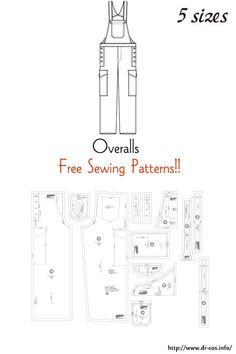 Mens Sewing Patterns, Sewing Men, Doll Clothes Patterns, Free Sewing, Sewing Clothes, Clothing Patterns, Diy Knitting Projects, Free Pattern Download, Fibre And Fabric
