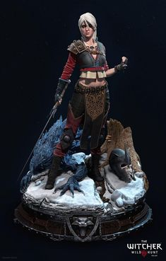 Hi guys! Here is Ciri in her alternative costume I made during Bernardo Cruzeiro and Bruno Zorzi Digital Sculpture for Collectibles workshop. I've decided to make a fan art based on Prime 1 The Witcher 3 statues with my favorite character from the Ciri Witcher, Witcher Art, The Witcher 3, Character Creation, 3d Character, Character Design, Witcher 3 Statue, Zbrush, Witcher Figure
