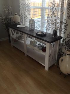 Rustic X Console Table | Do It Yourself Home Projects from Ana White