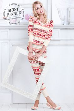 A cozy cotton thermal PJ, in a long-sleeve top and comfy legging pant. l The Fireside Long Jane Pajama