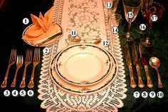 Table setting...I'm going to have to borrow Mom's Sterling from Linda....