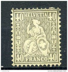 ULTRA RARE RRR SUPERB 40 C HELVETIA FRANCO SWISS SUISSE 1862 UNIQUE CV-950EURO STAMP TIMBRE LOW PRICE - 1862-1881 Sitted Helvetia (perforates) Rare Stamps, Vintage Stamps, Stamp Values, Rare Coins, Basel, Stamp Collecting, Switzerland, Postage Stamps, France