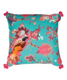 Another great find on #zulily! Turquoise Bird Patch Throw Pillow by  #zulilyfinds