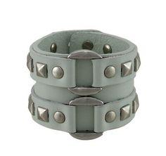 Zeckos Gray Leather Double Chrome O Ring Wristband Bracelet for sale online Bracelets For Men, Bangle Bracelets, Beard Growth Kit, Beard Grooming Kits, Leather Gifts, Adjustable Bracelet, Leather Necklace, Bracelet Sizes