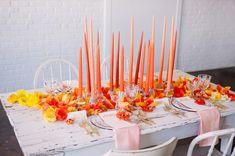 orange watercolor diy napkins - photo by Sweet Root Village http://ruffledblog.com/diy-watercolor-napkins