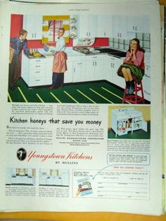 Youngstown Kitchen Cabinets Vintage Advertising by thevintageshop