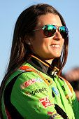 Danica Patrick on the grid waiting to qualify for the Folds of Honor QuikTrip 500, 2/27/2015, Atlanta Motor Speedway