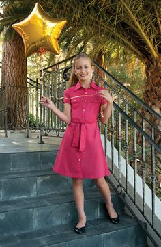 From the Miss b collection, a shirt dress to take her anywhere. www.missbtween.com (editor's pick)
