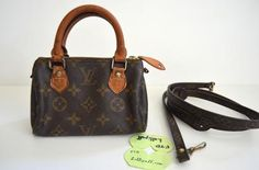 Louis Vuitton Vintage Monogram Mini Speedy Bandouliere Crossbody Bag | Lollipuff