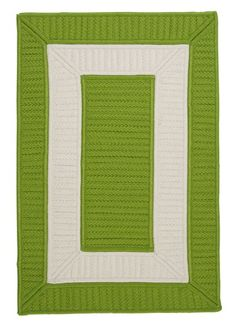 Rope Walk Bright Green Area Rug