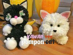Manualidad ♥ Kawaii ♥ DIY fácil: Pompon Cat | Manualidades