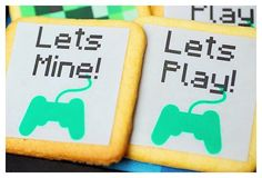 Sugar Cookies from a Minecraft Birthday Party via Kara's Party Ideas |