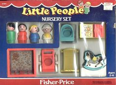 Fisher Price Little People Nursery Set I remember picking it out at Kmart. My sister and I both wanted one so we picked parents with different hair colours.