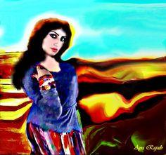 لوحة للفنانة التشكيلية الفلسطينية اية رجب 170