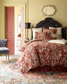 Shop Marguerite Bedding from Sweet Dreams at Horchow, where you'll find new lower shipping on hundreds of home furnishings and gifts. French Country Bedding, French Country Bedrooms, Serene Bedroom, Beautiful Bedrooms, 1940s Decor, Master Room, Master Bedrooms, Small Space Living, Queen