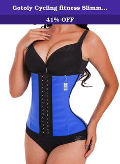 Gotoly Cycling fitness Slimming Plus Size Latex Waist Trainer Sport Workout (XXXL, Blue). Loose inches instantaneously,Corsets are sized by waist size, please choose according to your waistline measurement. Features hook and eye closures covered by a protective zipper for smoothing abdomen and really securing it. And the hooks are sturdy and tuck your tummy in. 1.Waist training corset has 3 hook and eyes in front. 2.It is made of smooth latex fabric, comfortable and durable. 3.Features…