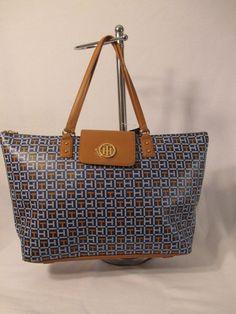 Tommy Hilfiger Handbag Tote Color Blue  6933953 479 Retail $118.00 #TommyHilfiger #Totes