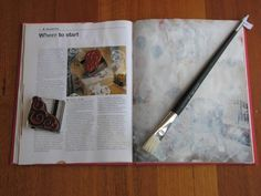 DIY/Repurpose :: art journal/sketchbook - gesso over old magazine pages.