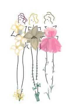 Wearing Flowers (image 1) #fashion #art #bybc
