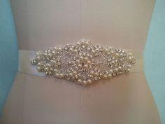Crystal Pearl Wedding Bridal Sash Belt = 5 long = in IVORY Ribbon for sale online Diy Wedding Dress, Wedding Dress Sash, Wedding Belts, Bling Wedding, Crystal Wedding, Bridal Dresses, Wedding Ideas, Dream Wedding, Wedding Hair