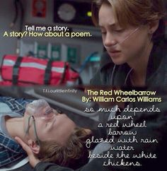 """Thomas loves it, when Lea recites poems for him. When he was in the hospital, she would always do just that. One of his favourites is """"The Red Wheelbarrow""""."""